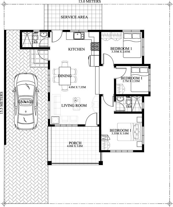 Small House With Excellent Planning Of The Area For A Family Four Engineering Feed